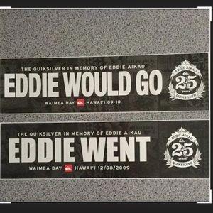 Quiksilver Eddie Aikau Bumper Stickers 🌊
